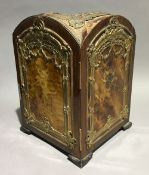 A 19th century French gilt bronze and tortoiseshell mounted table cabinet