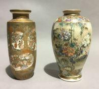 Two 19th century Japanese Satsuma vases