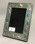 An Art Nouveau style silver picture frame