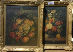 Two still life oil paintings,
