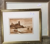 ENGLISH SCHOOL (19th/20th century), Dunure Castle, watercolour,