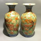 A large pair of 19th century Japanese vases