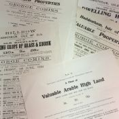 A quantity of George Comins printed ephemera relating to various sales