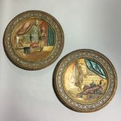 A pair of Victorian terracotta chargers,