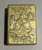 A Chinese brass box