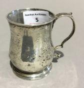 A miniature Georgian silver tankard (approx 3.