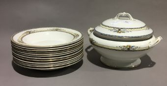 A Wedgwood tureen and soup bowls