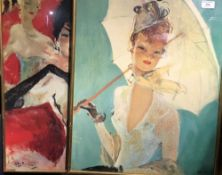 Three prints of Parisian ladies