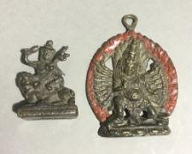 Two small Tibetan Buddhas