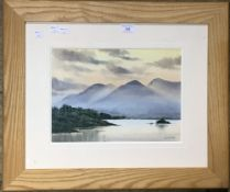 PAUL PURDAY, Mountains with a Lake in the Foreground,