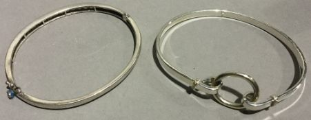 Two silver bangles