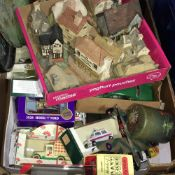 A quantity of various toys, David Winter cottages, etc.