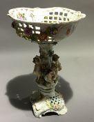 A Continental porcelain centre piece