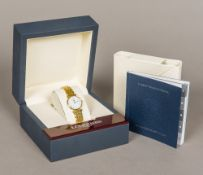 A Longines Grande Classique gold plated lady's wristwatch The signed dial with Roman numerals,