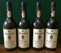 Warre's 1983 Vintage Port Four bottles.