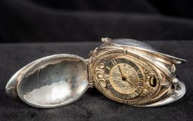 An Edwardian silver pendant watch, hallmarked Birmingham 1904,