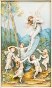 An Austrian porcelain relief moulded plaque,