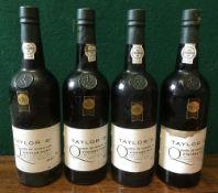 Taylor's Quinta de Vargellas 1987 Vintage Port Four bottles.