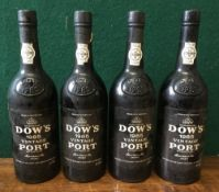 Dow's 1985 Vintage Port Four bottles.