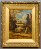 WILLIAM JAMES MULLER (1812-1845) British At Versailles Oil on panel,