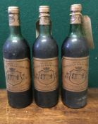 Chateau La Tour Vedrines Grand Vin de Bordeaux 1977 Three bottles.