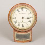 A Victorian fusee drop dial wall clock The circular dial with Roman numerals inscribed Atkinson &
