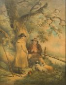 After GEORGE MORLAND (1763-1804) British Rural Figures in Country Landscapes Prints,