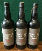 Peatlings Crusted Port Bottled 1988 and 1989 Three bottles.