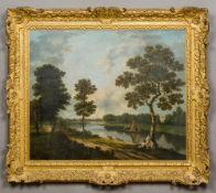 RICHARD WILSON (1713-1782) British The Thames Near Marble Hill, Twickenham Oil on canvas,