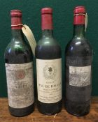 Chateau Pas de Rauzan Bordeaux Superieur 1972 Single bottle;