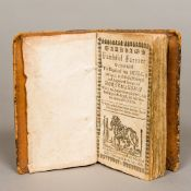 Markham's Faithful Farrier 1686, leather bound. 14.5 cm high.
