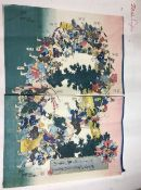 YOSHITSUNA (flourished 1848-1868) Japanese Event Calendar of the Year Diptych woodblock print,