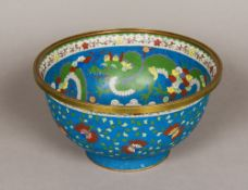 A large Chinese cloisonne bowl Decorated to the interior with three clawed dragons,
