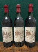 Chateau La Tour de Mons Grand Vin Margaux 1970 Three bottles.