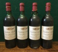 Chateau Lafitte Premiers Cotes de Bordeaux 1978 Four bottles.