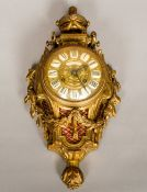 A French cartel clock Of small proportions,
