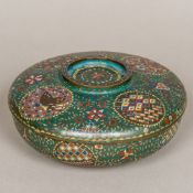 A 19th century Chinese cloisonne box and cover Of circular form,