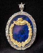 A Victorian enamel,