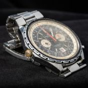 A stainless steel cased Breitling Chronomat Automatic gentleman's wristwatch The black dial with