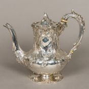 A Victorian silver teapot, hallmarked London 1841,
