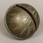 An 18th century bronze Crotal bell Of typical form,