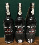 Martinez Gassiot & Co Ltd 1985 Vintage Port Three bottles.