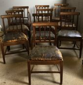 A set of ten 19th century mahogany dining chairs,
