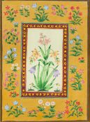 INDIAN SCHOOL (20th century) Botanical Study Bodycolour, framed and glazed. 25 x 34 cm.