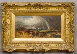 WILLIAM JAMES MULLER (1812-1845) British Horseman Riding in to a Storm Oil on board,