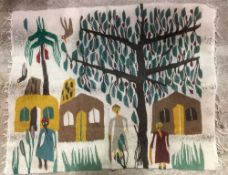 Style of RAMSES WISSA WASSEF SCHOOL (1911-1974) Egyptian An Egyptian tapestry Worked with figures