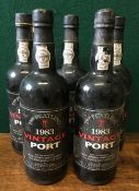 Thomas Peatling 1983 Vintage Port Five bottles.