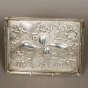 A George V silver tray, hallmarked Chest