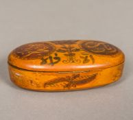 A 19th century Eastern, possibly Persian, treen marriage box, of hinged form,