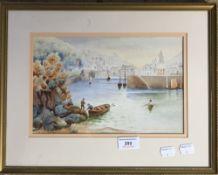 WALTER BARTLEY WILSON, Harbour Scene,